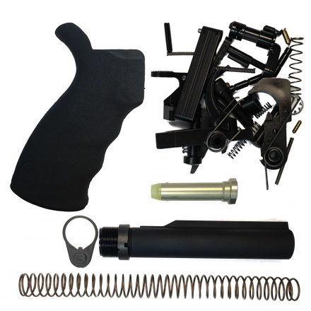 Image for Voodoo Innovations LifeCoat Lower Parts Kit With Buffer Tube & Ergo Grip