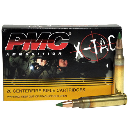 PMC  5.56 NATO 62 Grain FMJ  LAP Green Tip  20 Rounds