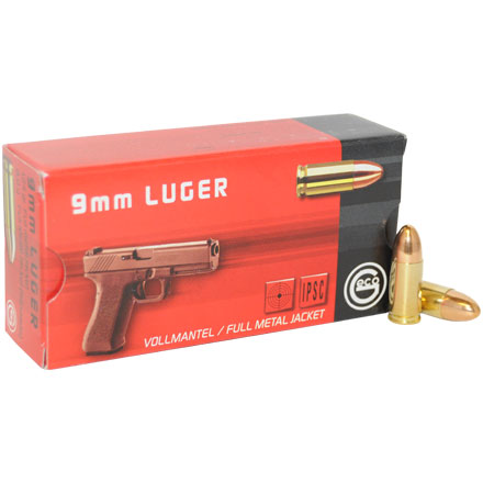 GECO 9mm Luger 124 Grain Full Metal Jacket Round Nose 50 Rounds
