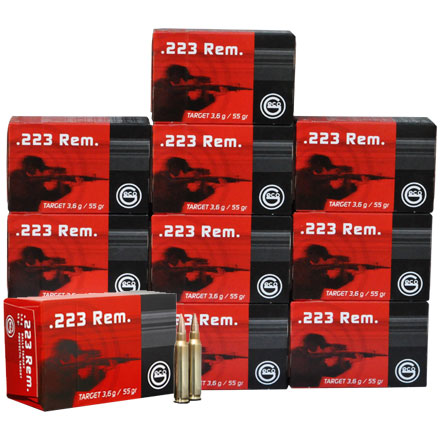 Image for GECO .223 Remington 55 Grain Full Metal Jacket 500 Round Half Case 10 Boxes of 50 Count