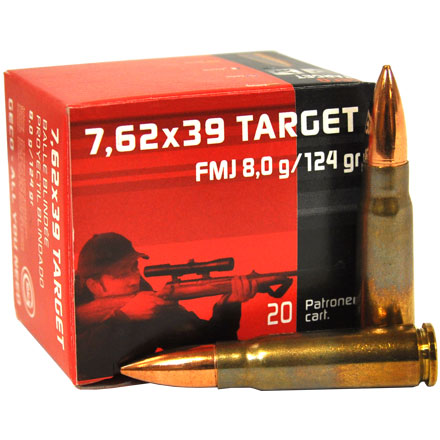 GECO 7.62x39 Full Metal Jacket 124 Grain 20 Round Box