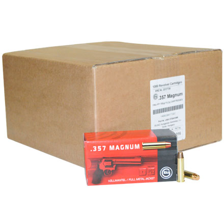 Image for GECO .357 Mag 158 Grain Full Metal Jacket 1000 Round Case