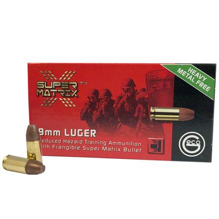 GECO Super Matrix Frangible 9mm Luger 94 Grain 50 Rounds