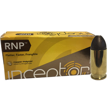 Inceptor 380 Auto 60 Grain RNP 50 Rounds