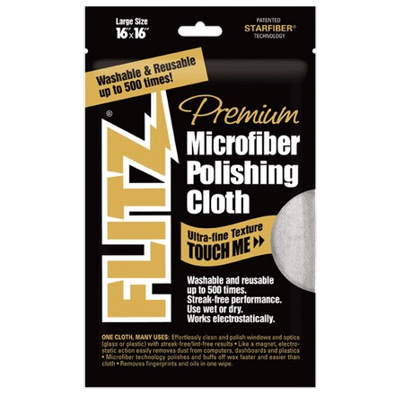 "Microfiber Polishing Cloth 16x16"" (Gray)"