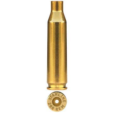 Starline Unprimed Rifle Brass 260 Remington 500 Count