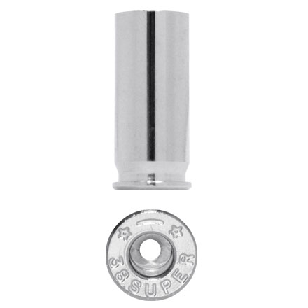 Starline Unprimed Pistol Brass Bulk 38 Super Nickel  500 Count