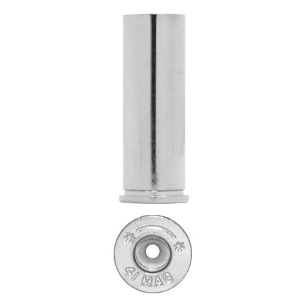 Starline Unprimed Pistol Brass Bulk 41 Remington Magnum Nickel 100 Count