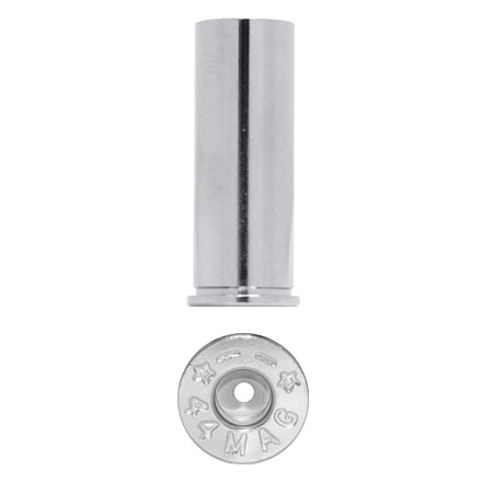 Starline Unprimed Pistol Brass 44 Mag Nickel 100 Count