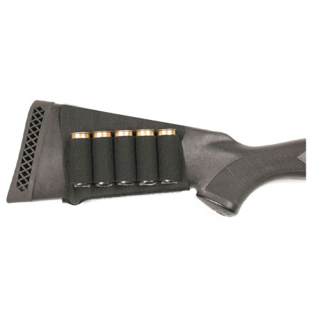 Blackhawk Buttstock Shell Holder - Shotgun (Open) Black Elastic