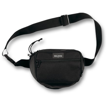 "Fanny Pack Holster Small 9""x7"" Black With Black Trim and Strap"