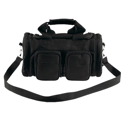 "Economy 13""x7""x7"" Range Bag Black With Black Trim and Strap"