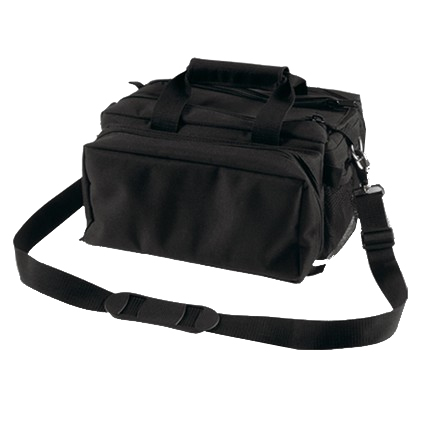 "Deluxe 13""x7""x7"" Range Bag Black With Black Trim and Strap"