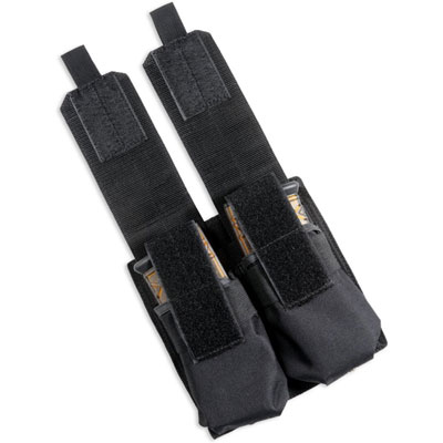 Extreme MOLLE Double Mag Holder Black (2 AK Mag or 4 AR Mags )