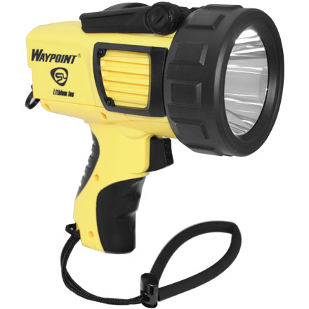 Waypoint LED Spotlight 120V AC Recharageable Yellow