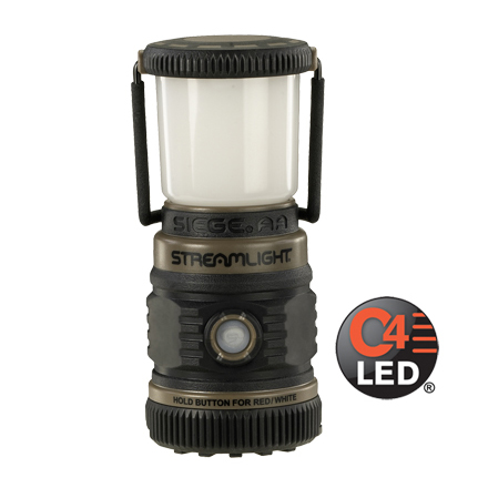 The Siege Lantern AA White and Red LED Coyote Tan