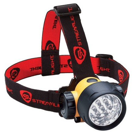 Yellow Septor Headlamp With 7 Ultra Bright LED'S With 3AAA Batteries
