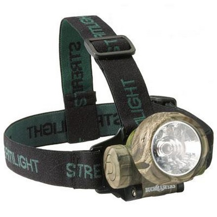 Image for Buckmasters Camo Trident Headlamp With 3 Green LED