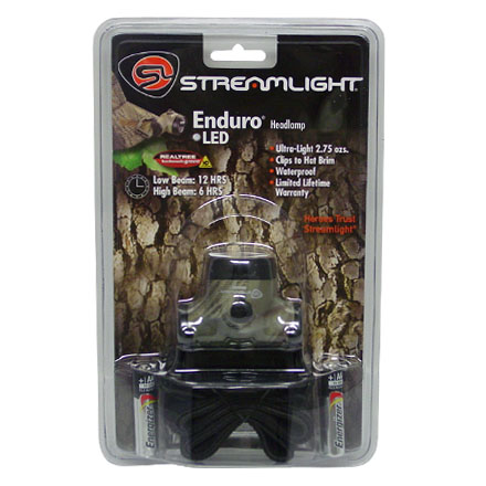 Image for Enduro Camo Headlamp With 1 High-Flux LED and 2 AAA Batteries