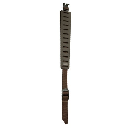 Claw Rifle Sling (Brown) With Hush Stalker II Swivels Metal