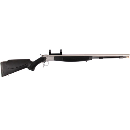 Optima V2 Muzzleloading Rifle 50 Caliber  SS Barrel Black Synthetic Stock With Scope Mount