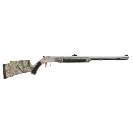 accura v2 50 caliber break action stainless steel real tree hd