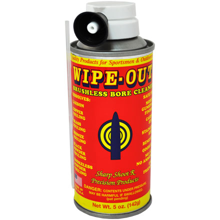 Wipe Out Brushless Foaming Bore Cleaner 5 Oz Aerosol By
