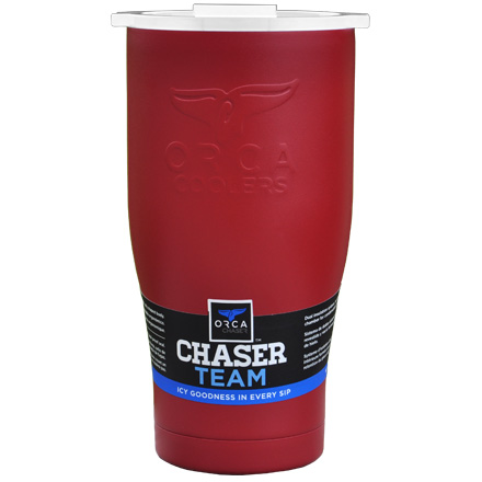Image for ORCA Chaser Crimson / White 27 fl oz  Stainless Steel Tumbler