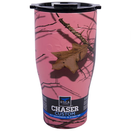Image for ORCA Chaser Mossy Oak Breakup Pink / Black 27 fl oz  Stainless Steel Tumbler