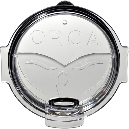 ORCA Whale Tail Flip Top Chaser Lid  Clear