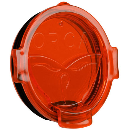 ORCA Whale Tail Flip Top Chaser Lid Orange