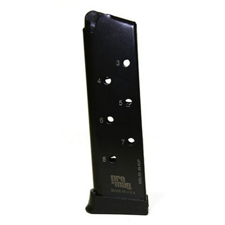 1911 & Government .45ACP Blued Finish 8 Round Magazine
