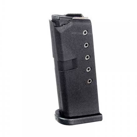 Glock Model 43 9mm 6 Round Black Polymer Magazine