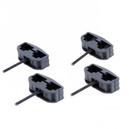AR-15 & Mini-14 (Polymer & Metal Magazine) Black Polymer Magazine Clamp (4 Pack)