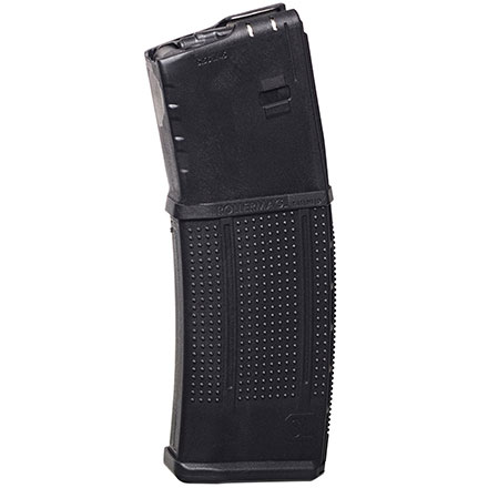 AR-15 5.56mm Roller Follower 30 Round Steel Lined Black Polymer Magazine