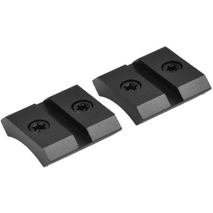 Warne Maxima 2 Piece Base For Anschutz Rimfire Rifle Matte Black Finish