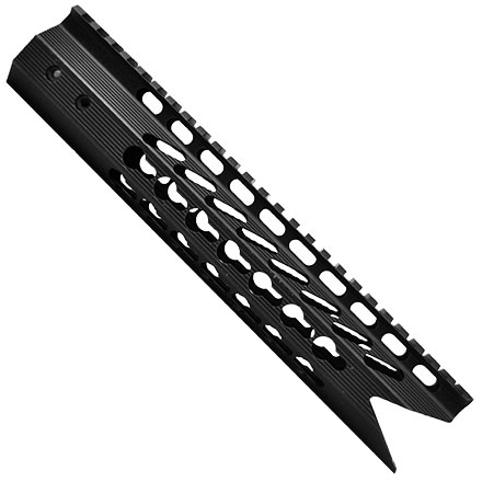 "10"" Ultra Slimline Octagonal 5 Sided KEY MOD Free Floating Handguard with Shark Mouth Cut"