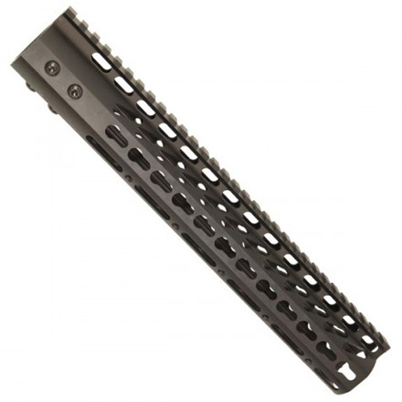 "Image for 12"" Ultra Lightweight Thin Key Mod Free Floating Handguard With Monolithic Top Rail"