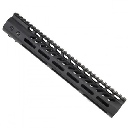 "12"" Ultra Lightweight Thin M-LOK System Free Floating Handguard With Monolithic Top Rail"