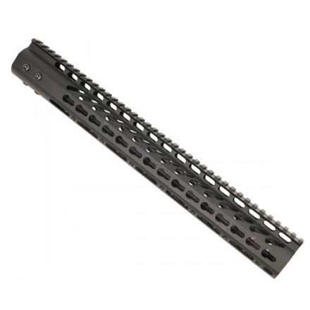 "Image for 15"" Ultra Lightweight Thin Key Mod Free Floating Handguard With Monolithic Top Rail"