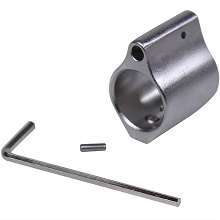 AR-15 Stainless Steel  .750 Steel Low Profile Gas Block With Three Set Screws