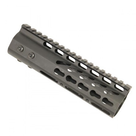 "Image for 7"" Ultra Lightweight Thin Key Mod Free Floating Handguard With Monolithic Top Rail"