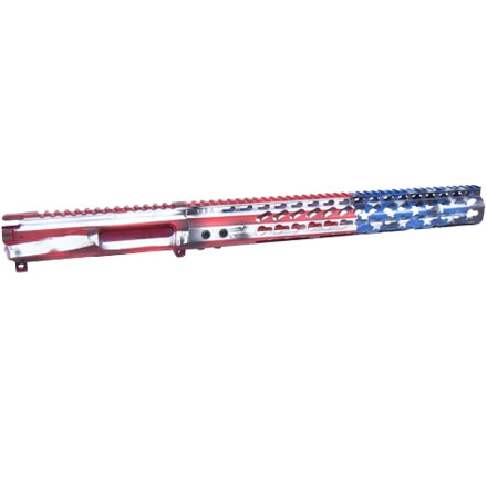 "Limited Edition AR15 Liberty Edition Stripped Billet Upper and 15"" Ultralight Keymod Handguard Combo"