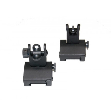 Image for AR-15 Spring Assisted Low Profile Flip Up Sight Set