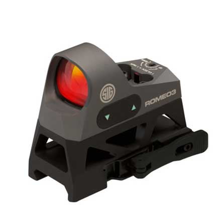 Romeo3 Reflex Sight 1x25mm 3 MOA Red Dot Reticle 1.0 MOA Adj M1913 with Riser Graphite