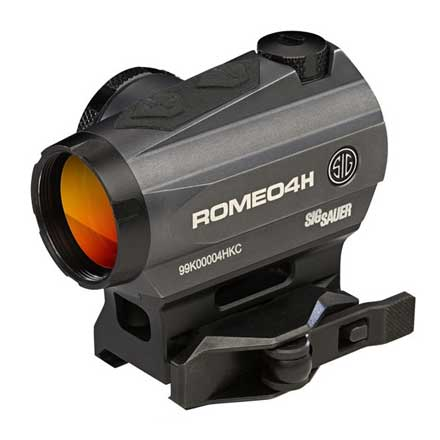 Romeo4H Red Dot Sight Ballistic Circle Dot 0.5 MOA Adj Side Battery Torx and QR Mounts Graphite
