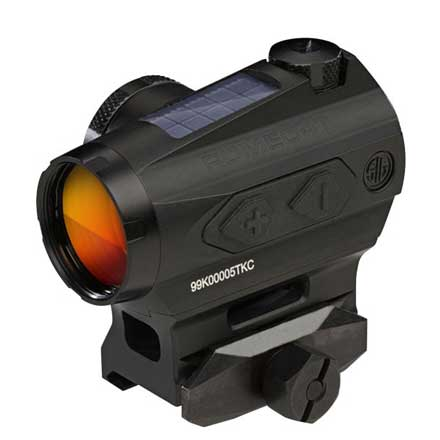 Romeo4T Red Dot Sight Ballistic Circle Dot Solar 0.5 MOA Side Battery Hex Bolt Mount Spacer Graphite
