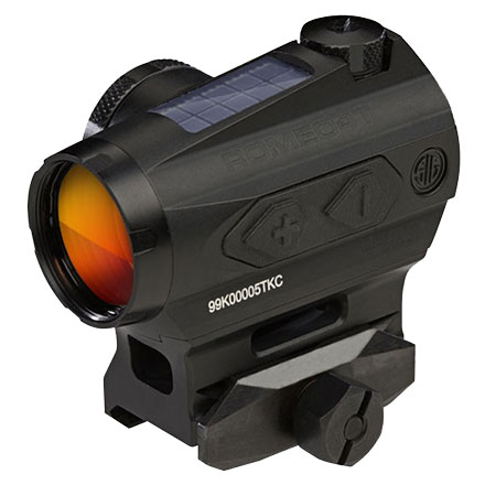 Romeo4T Red Dot Sight Ballistic Circle Dot Solar 0.5 MOA Side Battery Hex Bolt Mount Spacer FDE