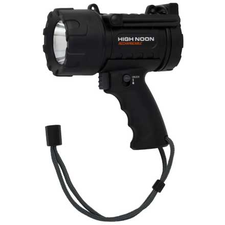 High Noon USB Rechargeable Spotlight Black (Uses USB Rechargeable Batteries)