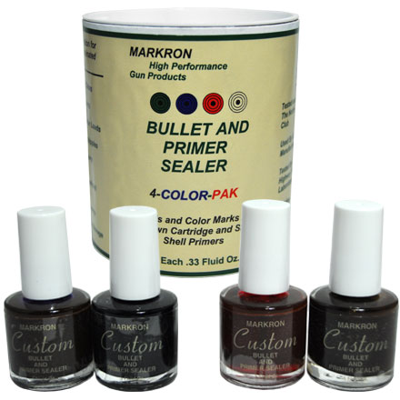 Markron Custom Bullet and Primer Sealer 1/3 Oz (4 Color Pack)